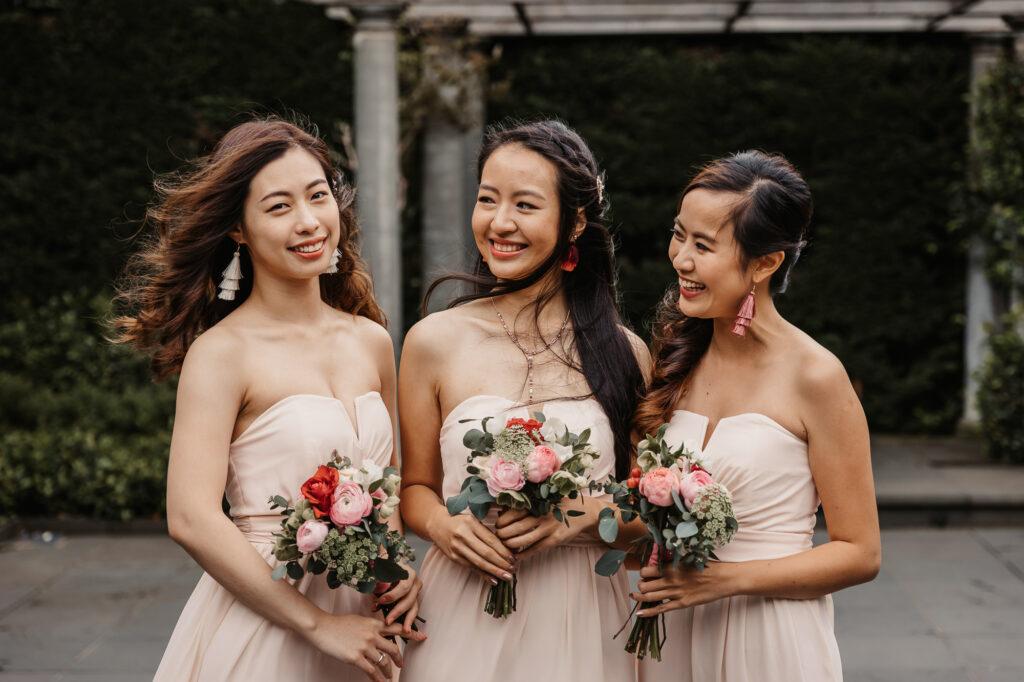 asian bridesmaids